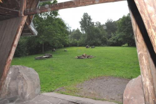 Grillplatz - Blick aus der Böllenborner Hütte