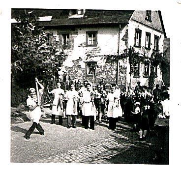 1949 Hasenkerwe, Kerweumzug (1. Kerwe nach dem Krieg)