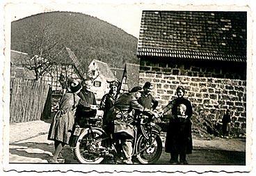1939, Abschied Weihnachten, Obere Brunnenstraße, Blick auf Kahlenberg